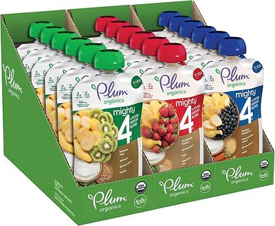 Purchase Plum Organics Mighty 4, Organic Toddler Food, Variety Pack, 4 Ounce (Pack of 18) at Amazon.com