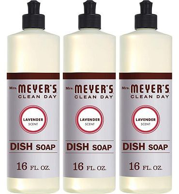 Purchase Mrs. Meyer's Clean Day Dish Soap, Lavender, 16 fl oz, 3 ct at Amazon.com