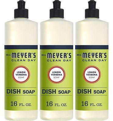 Purchase MRS Meyers Liquid Dish Soap, Lemon Verbena, 16 Fluid Ounce (Pack of 3) at Amazon.com