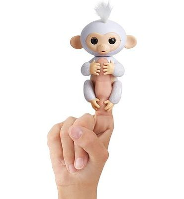 Purchase Fingerlings Glitter Monkey - Sugar (White Glitter) - Interactive Baby Pet - By WowWee at Amazon.com