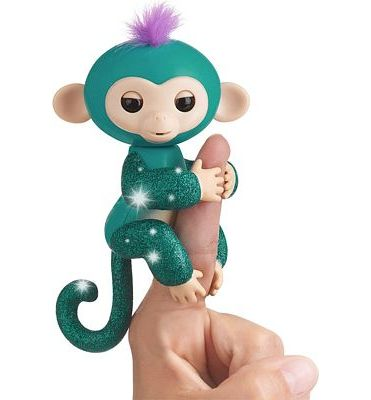 Purchase Fingerlings Glitter Monkey - Quincy - Teal Glitter - Interactive Baby Pet - By WowWee (Amazon Exclusive) at Amazon.com