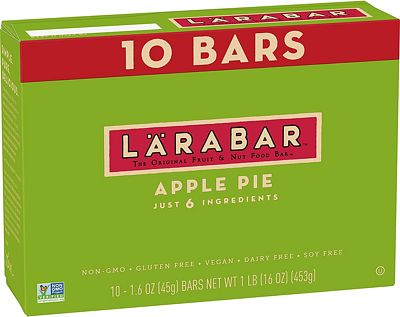 Purchase LARABAR, Fruit & Nut Bar, Apple Pie, Gluten Free, Vegan, Whole 30 Compliant, 1.6 oz Bars (10 Count) at Amazon.com