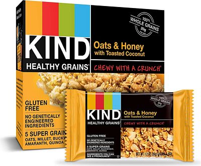 Purchase KIND Healthy Grains Granola Bars, Oats & Honey with Toasted Coconut, Gluten Free, 1.2 oz, 30 Count at Amazon.com