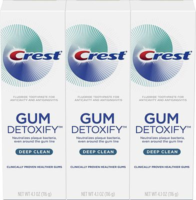 Purchase Crest Toothpaste Gum Detoxify Deep Clean, 4.1oz (Pack of 3) at Amazon.com