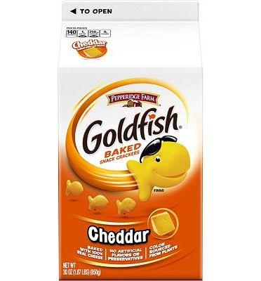 Purchase Pepperidge Farm Goldfish Cheddar Crackers, 60 oz. Box, 2 Count 30 oz. Cartons at Amazon.com