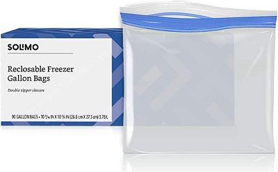 Purchase Amazon Brand - Solimo Freezer Gallon Bags, 90 Count at Amazon.com