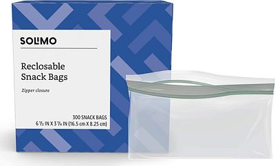 Purchase Amazon Brand - Solimo Snack Storage Bags, 300 Count at Amazon.com