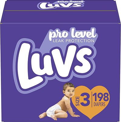 Purchase Diapers Size 3, 198 Count - Luvs Ultra Leakguards Disposable Baby Diapers, ONE MONTH SUPPLY at Amazon.com