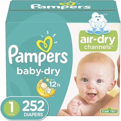 Purchase Diapers Newborn / Size 1 (8-14 lb), 252 Count - Pampers Baby Dry Disposable Baby Diapers, ONE MONTH SUPPLY at Amazon.com