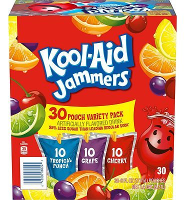 Purchase Kool-Aid Jammers Variety Pack 30 - 6 oz Pouches at Amazon.com