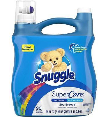 Purchase Snuggle SuperCare Liquid Fabric Softener, Sea Breeze, 95 Ounce, 90 Loads at Amazon.com