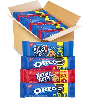 Purchase OREO Cookies, CHIPS AHOY! Cookies & Nutter Butter Cookies Variety Pack, 12 King Size Packs at Amazon.com