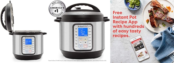 Purchase Instant Pot Duo Plus 9-in-1 Electric Pressure Cooker, Sterilizer, Slow Cooker, Rice Cooker, Steamer, saute, Yogurt Maker, and Warmer, 6 Quart, 15 One-Touch Programs on Amazon.com