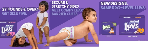 Purchase Luvs Pro Level Leak Protection Diapers Size 5 148 Count on Amazon.com