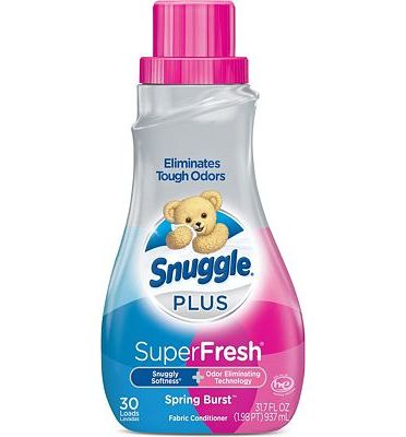 Purchase Snuggle Plus Super Fresh Liquid Fabric Softener, Spring Burst, 31.7 Fluid Ounce at Amazon.com