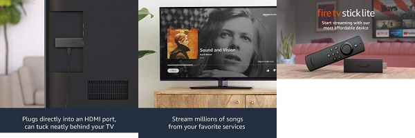 Purchase Introducing Fire TV Stick Lite with Alexa Voice Remote Lite (no TV controls), HD streaming device, 2020 release on Amazon.com