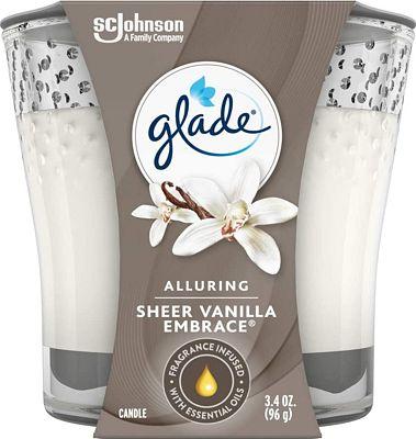 Purchase Glade Candle Jar, Air Freshener, Sheer Vanilla Embrace, 3.4 Oz at Amazon.com