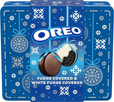 Purchase OREO Fudge and White Fudge Covered Chocolate Sandwich Cookies, Original Flavor Creme, Holiday Gift Tin (24 Cookies Total) at Amazon.com