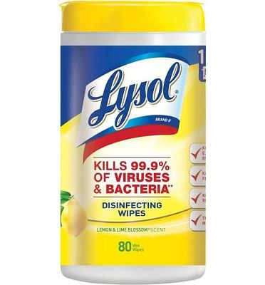 Purchase Lysol Disinfecting Wipes, Lemon & Lime Blossom, 80ct at Amazon.com