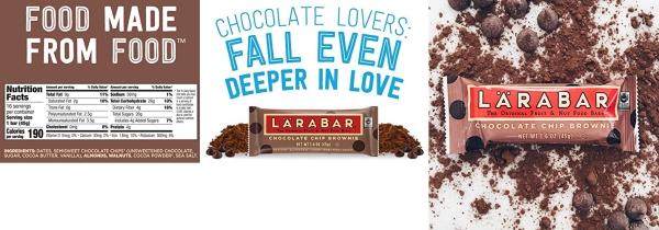 Purchase Larabar Gluten Free Bar, Chocolate Chip Brownie, 1.6 oz Bars (16 Count), Whole Food Gluten Free Bars, Dairy Free Snacks on Amazon.com