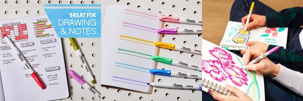 Purchase Sharpie S-Note Creative Markers, Highlighters, Assorted Colors, Chisel Tip, 12 Count on Amazon.com
