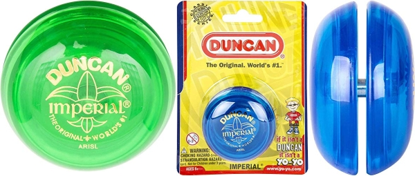 Purchase Duncan Imperial Yo-Yo - String Yo-Yo for Beginners with Narrow String Gap, Steel Axle, Plastic Body, Looping Play, Assorted Colors on Amazon.com