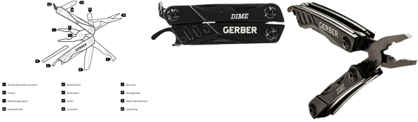 Purchase Gerber 30-000469 Dime Mini Multi-Tool, Black on Amazon.com