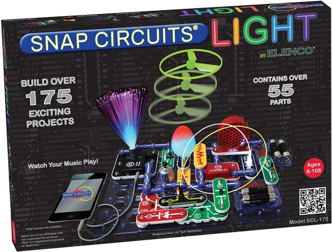 Purchase Snap Circuits LIGHT Electronics Exploration Kit, Over 175 Exciting STEM Projects, Full Color Project Manual, 55+ Snap Circuits Parts, STEM Educational Toys for Kids 8+, Multi at Amazon.com