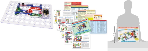 Purchase Snap Circuits Classic SC-300 Electronics Exploration Kit, Over 300 Projects on Amazon.com