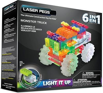 Purchase Laser Pegs 6-in-1 Monster Truck Building Set at Amazon.com