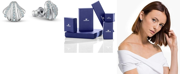 Purchase Swarovski Women's Shell Pearl Blue Crystal Jewelry Collection (Amazon Exclusive) on Amazon.com