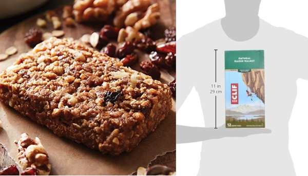 Purchase CLIF BAR - Energy Bars - Oatmeal Raisin Walnut - (2.4 Ounce Protein Bars, 12 Count) on Amazon.com