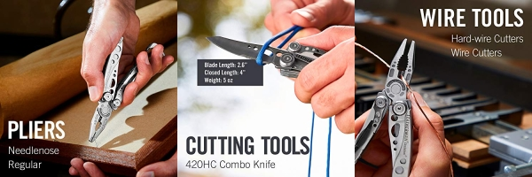 Purchase LEATHERMAN, Skeletool Lightweight Multitool with Combo Knife and Bottle Opener, Stainless Steel on Amazon.com