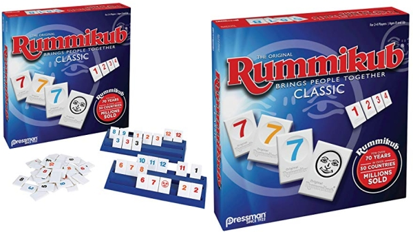 Purchase Rummikub by Pressman - Classic Edition - The Original Rummy Tile Game, Blue on Amazon.com