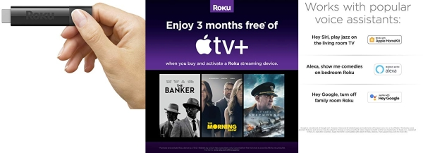 Purchase Roku Streaming Stick+, HD/4K/HDR Streaming Device with Long-range Wireless and Voice Remote with TV Controls on Amazon.com