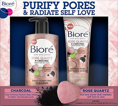 Purchase Biore Rose Quartz Charcoal Daily Purifying Face Wash & Scrub at Amazon.com