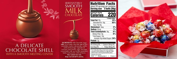 Purchase Lindt LINDOR Milk Chocolate Truffles, 60 Count Box, 25.4 Ounce on Amazon.com