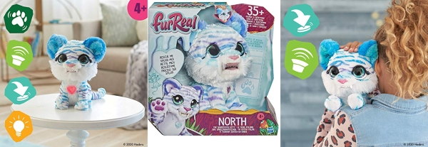 Purchase furReal North The Sabertooth Kitty Interactive Plush Pet Toy, 35+ Sound & Motion Combinations on Amazon.com