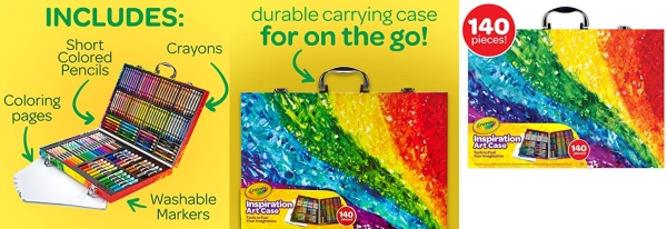 Purchase Crayola 140 Count Art Set, Rainbow Inspiration Art Case, Gifts for Kids, Age 4, 5, 6 on Amazon.com
