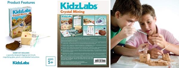Purchase 4M Kidzlabs Crystal Mining Kit - DIY Geology Science Dig Excavate Gemstones Minerals on Amazon.com