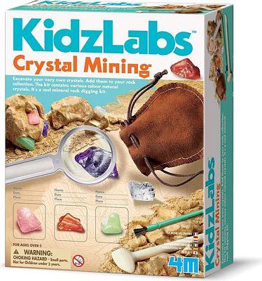 Purchase 4M Kidzlabs Crystal Mining Kit - DIY Geology Science Dig Excavate Gemstones Minerals at Amazon.com