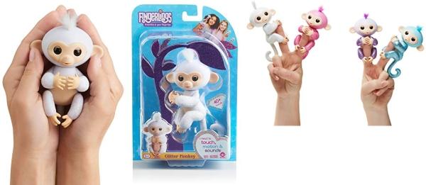 Purchase Fingerlings Glitter Monkey - Sugar (White Glitter) - Interactive Baby Pet - By WowWee on Amazon.com