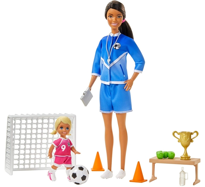 Purchase Barbie Soccer Coach Playset with Brunette Soccer Coach Doll, Student Doll and Accessories at Amazon.com