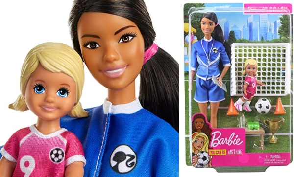 Purchase Barbie Soccer Coach Playset with Brunette Soccer Coach Doll, Student Doll and Accessories on Amazon.com