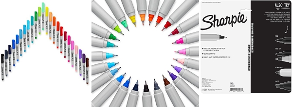 Purchase Sharpie Electro Pop Permanent Markers, Ultra Fine Point, Assorted Colors, 24 Count on Amazon.com