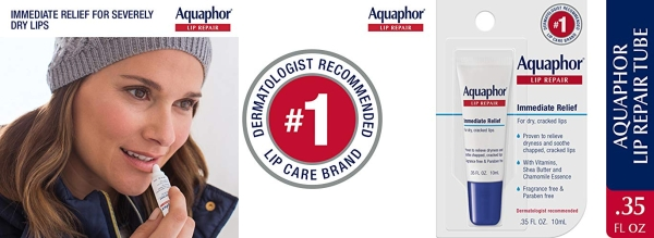 Purchase Aquaphor Lip Repair Ointment - Long-Lasting Moisture to Soothe Dry Chapped Lips on Amazon.com