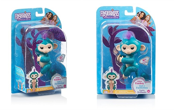 Purchase Fingerlings Glitter Monkey - Quincy - Teal Glitter - Interactive Baby Pet - By WowWee (Amazon Exclusive) on Amazon.com