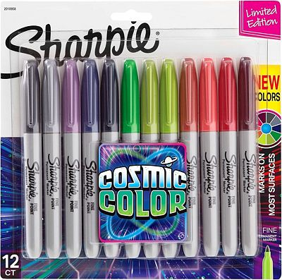 Purchase Sharpie Permanent Markers, Fine Point, Cosmic Color, Limited Edition, 12 Count at Amazon.com