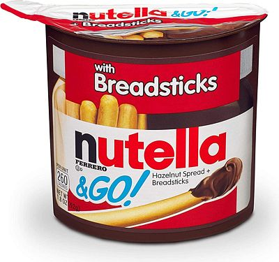 Purchase Nutella and Go Snack Packs, Chocolate Hazelnut Spread with Breadsticks, Perfect Christmas Stocking Stuffers and Bulk Snacks for Kids' Lunch Boxes, 1.8 Ounce, Pack of 12 at Amazon.com