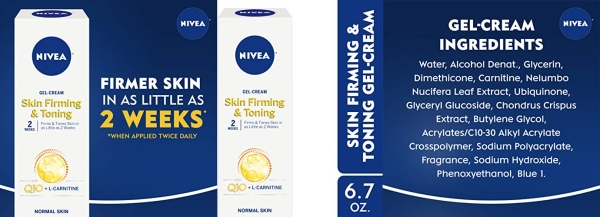 Purchase NIVEA Skin Firming & Toning Body Gel-Cream - With Q10 For Normal Skin - 6.7 oz. Tube on Amazon.com